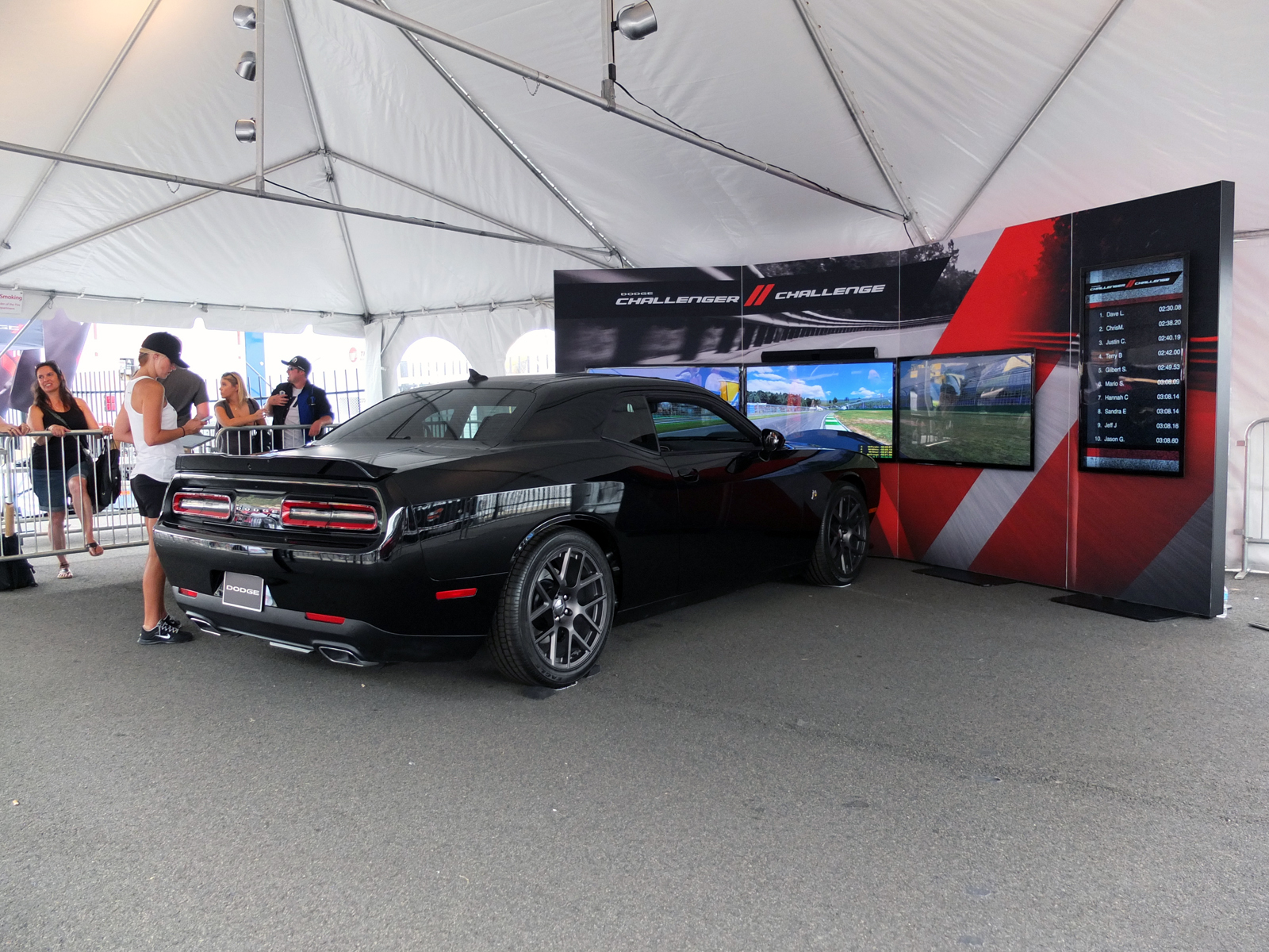 Dodge Challenger Full Motion Simulator